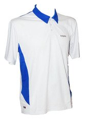 Karakal Leon Button Polo White/Blue
