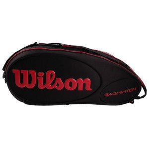 Wilson Badminton Tour Molded 6PK Black/Red