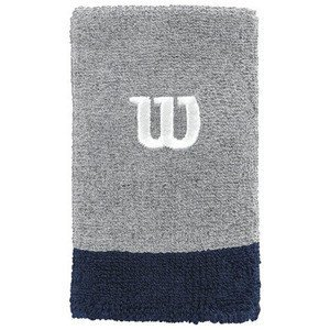 Wilson Extra Wide Wristband Grey/Navy 2 pcs