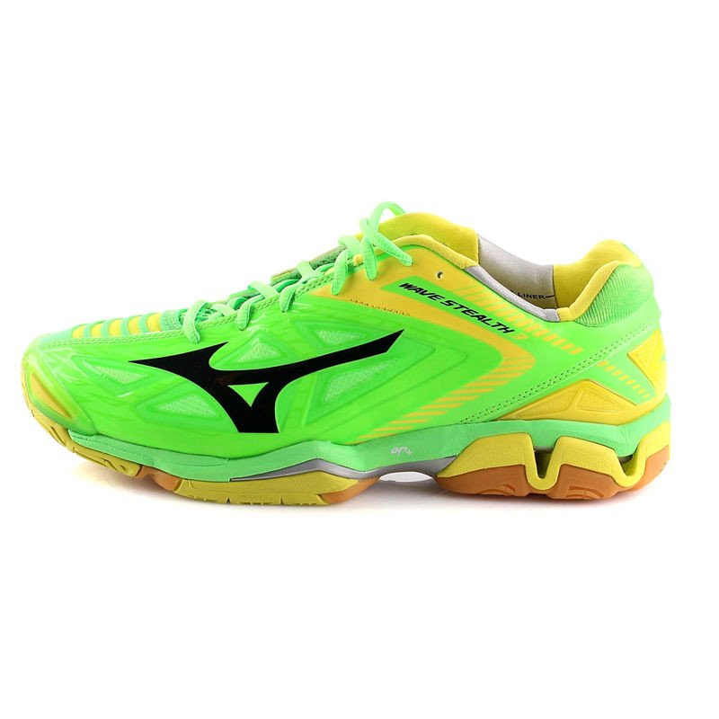 mizuno wave stealth 3 lime yellow shoes squash. Black Bedroom Furniture Sets. Home Design Ideas