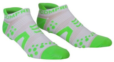 Compressport Racing Socks Run Low V2 White/Grün