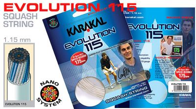 Naciąg Karakal Evolution 115 set 10 m Srebrny