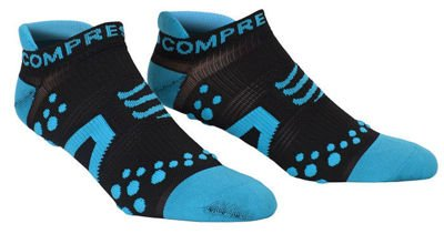 Skarpety Compressport Racing Socks Run Low V2 Czarno/Niebieskie