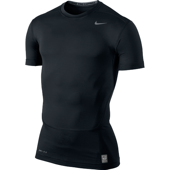 NIKE CORE COMPRESSION SS TOP Black
