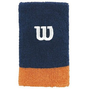 Wilson Extra Wide Wristband Navy/Orange 2 pcs