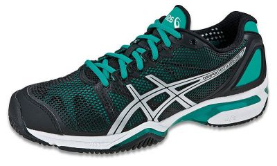 Asics WOMEN'S GEL-SOLUTION SPEED CLAY 9087 Czarny/Niebieski/Srebrny