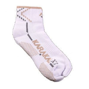 Karakal X3 Ankle Technical Socks White/Brown