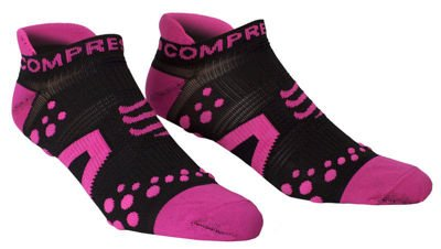 Compressport Racing Socks Run Low V2 Black/Pink