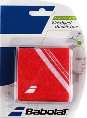 Wristband Babolat Double Line Red 2 pcs 2013