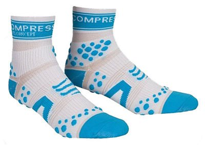Compressport Run Pro Racing Hi Weiß/Blau