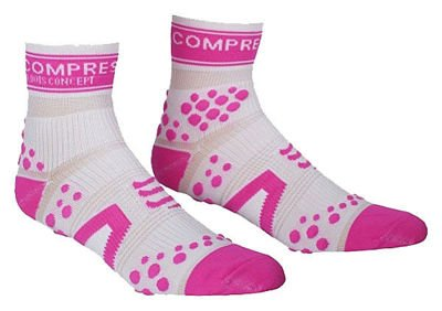 Compressport Run Pro Racing Hi Weiß/Pink