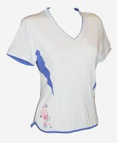 Koszulka Karakal Amara Tee Shirt White/Breeze