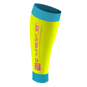 Opaski na łydki Compressport Calf R2 Fluo Yellow