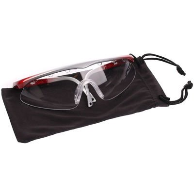 Okulary Black Knight Turbo Eye Guard Silver/Red