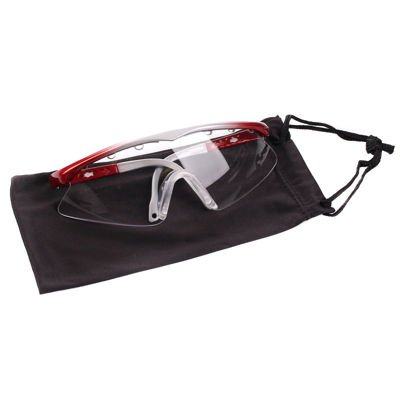 Okulary Black Knight Turbo Eye Guard Silver/Red SMALL