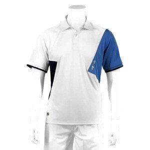 Karakal Dijon Button Polo White/Navy/Blue