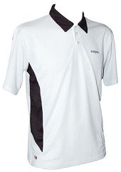 Karakal Leon Button Polo White/Black