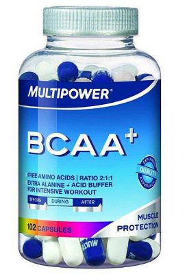 MULTIPOWER BCAA+ 102 kaps.