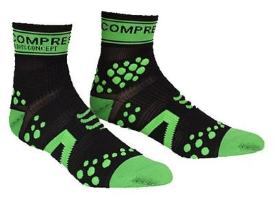Skarpety Compressport run pro racing hi Czarno/Zielone